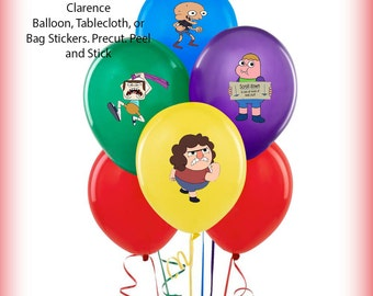 Clarence Balloon Stickers Precut Decorations Self Adheshive Party Favor Balloon Decals