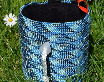 Napes Needle chalk bag: made from recycled climbing rope.