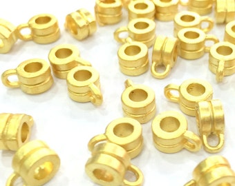 10 Gold Tube Findings Gold Plated (6 mm)    G4691