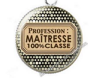 Pendant cabochon resin profession: teacher p52