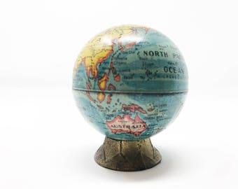 Small desk globe etsy world globe pencil sharpener circa 1918 tiny desk globe minimalism functional geography gumiabroncs Images