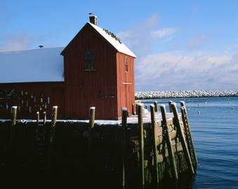Birds on Rockport Boathouse, Rockport Photography, Cape Ann Photography, Rockport Harbor, Seagulls, New England, Charles Lyons Photography