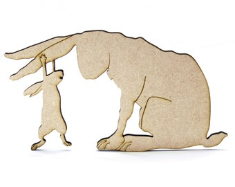 Guess How Much I Love You Wooden/MDF Shape. Nutbrown Hare. Natural Colour Embellishment
