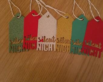 Silent Night Christmas Gift Tags