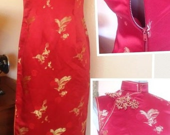 1950s Ethnic cheongsam dress 3/4 5/6
