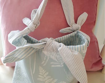 Pretty Bĺue Hedgerow Print bag, handbag, Hobo bag