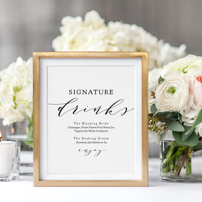 Signature drinks printable template wedding signature drink sign signature drinks printable template wedding signature drink sign signature cocktails 8x10 5x7 wedding sign wedding edit in acrobat junglespirit Images