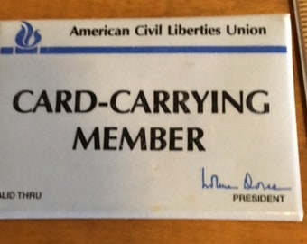 ACLU Card carring member pin