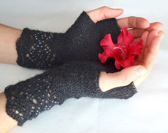Pattern: Mitts with Beads