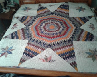 Vintage Late 1920's Star Quilt