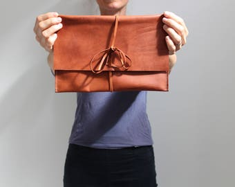 Leather envelope clutch - envelope wallet - leather clutch purse - leather clutch wallet - leather clutch bag - wallet minimalist - wallet