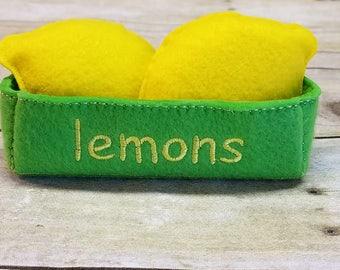Felt Lemons, Felt Pretend Food, Play Kitchen Food, Kids Felt Food, Pretend Cooking, Fake Food, Felt Fruit , Felt Toys, Pretend Kitchen Play