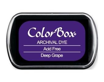 ColorBox Full Sized Archival Dye Acid Free Ink Pad Deep Grape Dark Purple