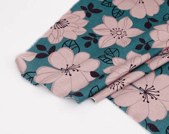 Big Flowers Printed Oxford Cotton By the yard (width 44 inches) 91406