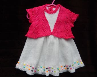 Spring beaded outfit for 0-6 months