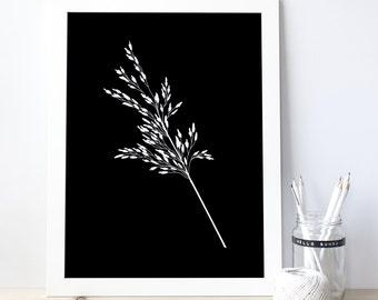 Plant Wall Art, Minimalist Print, Minimalist Nature Art, Plant Home Decor, Botanical Poster, Botanical Art, Bedroom, Botanical wall art 0093