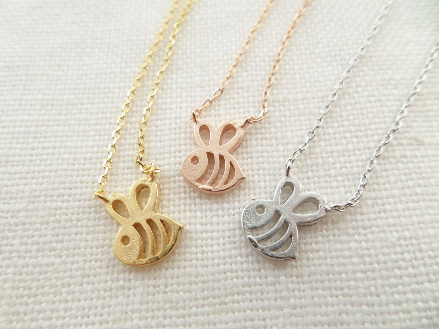 jewellery rose bumble necklace bee kit gold heath plated image