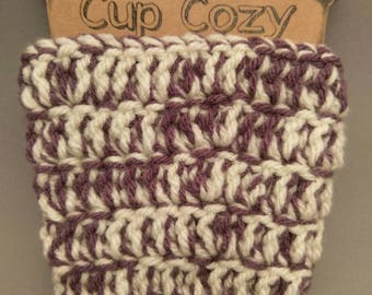 Reusable Crochet Cup Cozy,  Cup Sleeve,  Beverage Holder