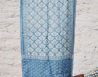 Handwoven Natural Dyed Batik Mulberry Silk Stole