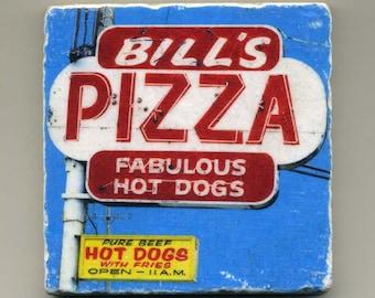 Bill's Pizza in Mundelein Illinois - Original Coaster