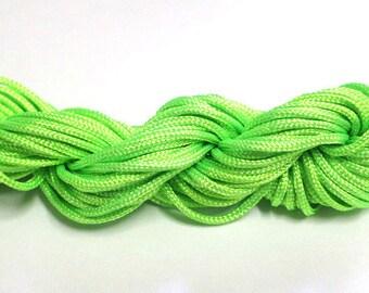 Nylon string lime green 2mm 12mm skeins