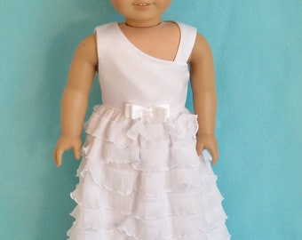 18 inch Doll Special Occasion  Dress with Optional Shoes and Tiara