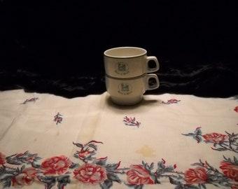 Vintage Stack Restaurant Coffee Cups(2)