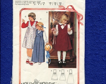 Burda 9250 Sweet Girl's Wrap Jumper Pattern Size 3 to 12 UNCUT