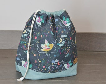 "Sac à projet ""Birdy"" / project bag ""Birdy"""
