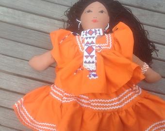 Native American Handmade Doll