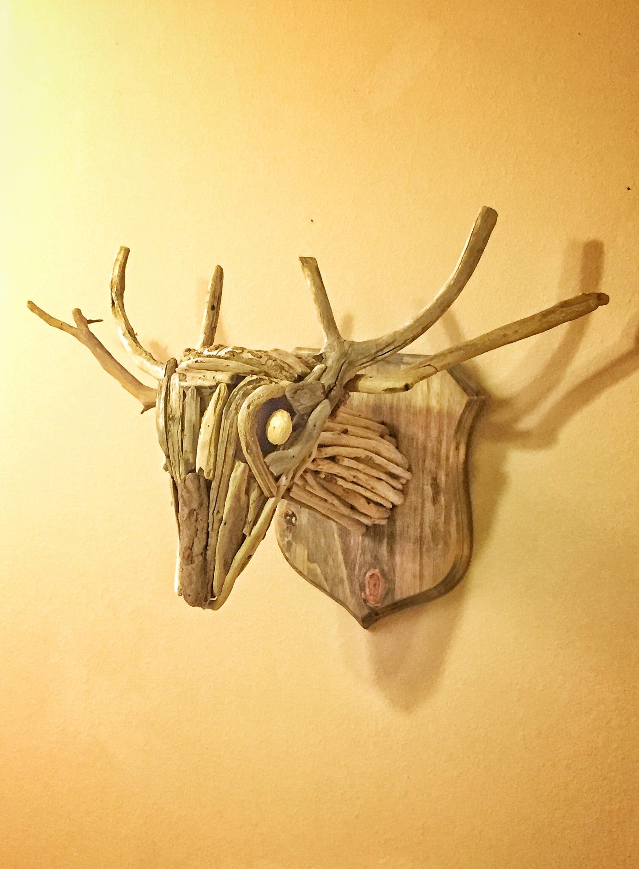 Driftwood Deer Head Mount