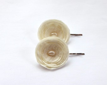 Ivory Bridal Hair Pins /Shoe Clips