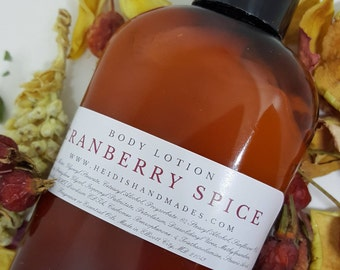 Cranberry Spice Lotion - Cranberry Spice Body Lotion - Cranberry Spice Hand and Body Lotion