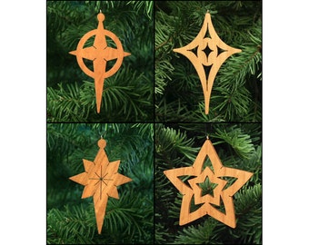 Stars Christmas Ornament Set - Star of Bethlehem, Christmas Star, Xmas Star