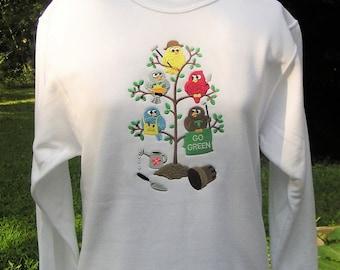 Go Green Tweeties - Ladies' Spring Sweatshirt
