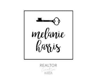 Real Estate Logo. PSD Logo Design. Affordable Realtor Logo. Key Logo. Real Estate Agent Logo. Modern Logo. DIY Logo Template. #0387.