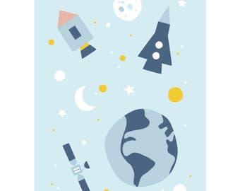 Space postcard - Eco friendly