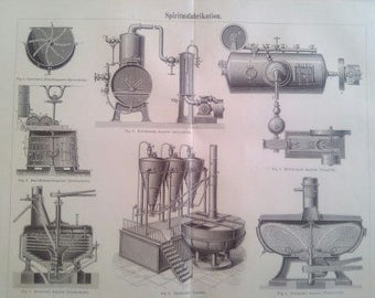 """Lithography, """"Alcohol production""""."""