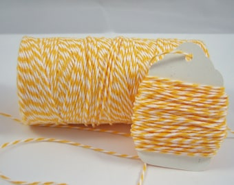 Bakers Twine - Twinery Twine - One Color - Your Choice of Length - Marigold/Lemondrop Twist
