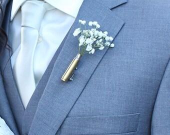 Wedding Boutineers - FREE SHIPPING - no flower - Bullet Boutonniere - Rustic boutonniere - Boutineers for Wedding - Bullet Boutineer