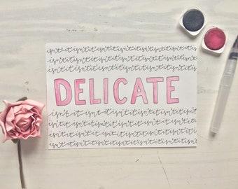 Delicate lyric art