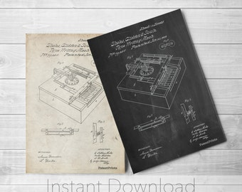 Sholes and Glidden Type- Writer Printables, First Typewriter, Typewriter Print, Apartment Decor, Home Office Decor, PP0045