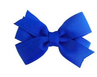 Royal blue hair bow - hair bows, bows, hair bows for girls, baby bows, pigtail bows, toddler bows, girls bows, hair clip, hairbows, baby