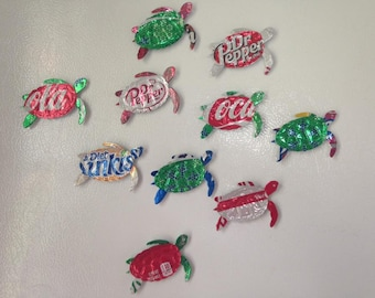 Sea Turtle Upcycled Magnets