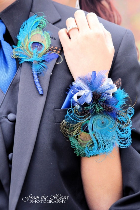 Prom Corsage Wristlet And Boutonniere Set To Match With