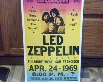 Led Zeppelin Concert Poster San Francisco 1969 Heavy Cardstock Poster 14 x 22