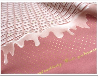 Strawberry Chocolate PRINT Japanese Fabric - 110cm x 50cm