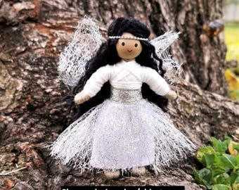 Winter Fairy, Fairy Doll, Fairy Toys, Snow Fairy, Fairy Dolls, Fairy Gift, Tiny Fairy Dolls, Snowflake Fairy, Winter doll