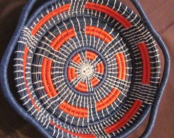 Handmade pine needle basket