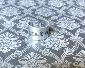 Believe Adjustable Finger Cuff
